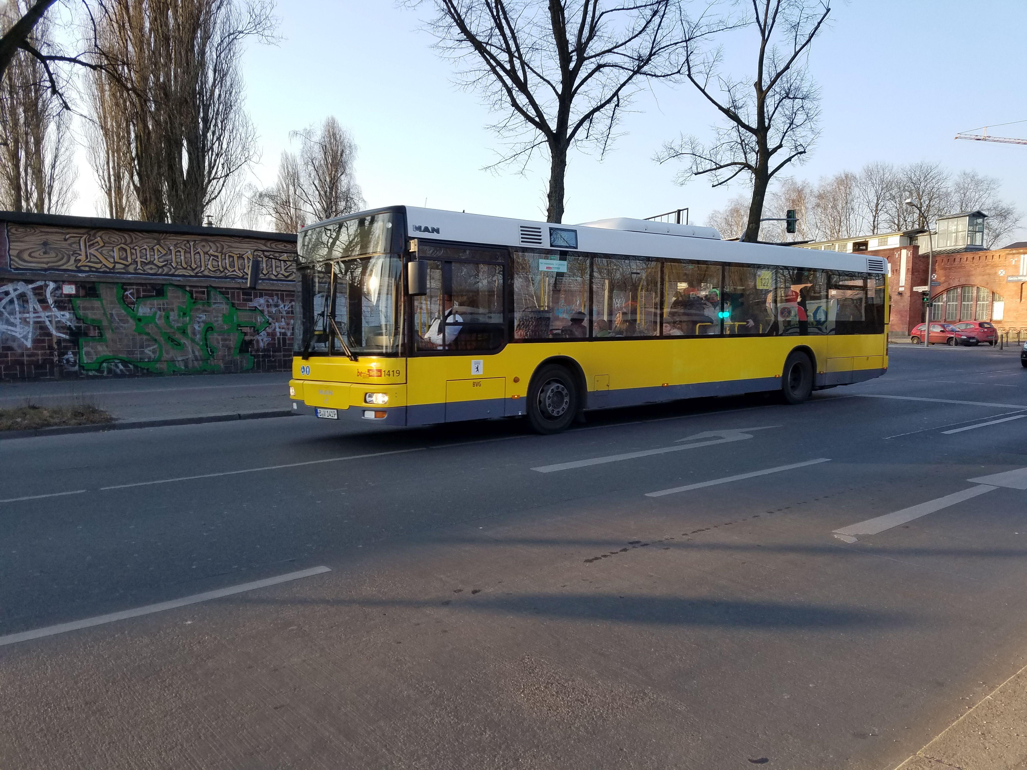 Foto: Bus 1419, Typ MAN NL263, Wilhelmsruh, 2018;