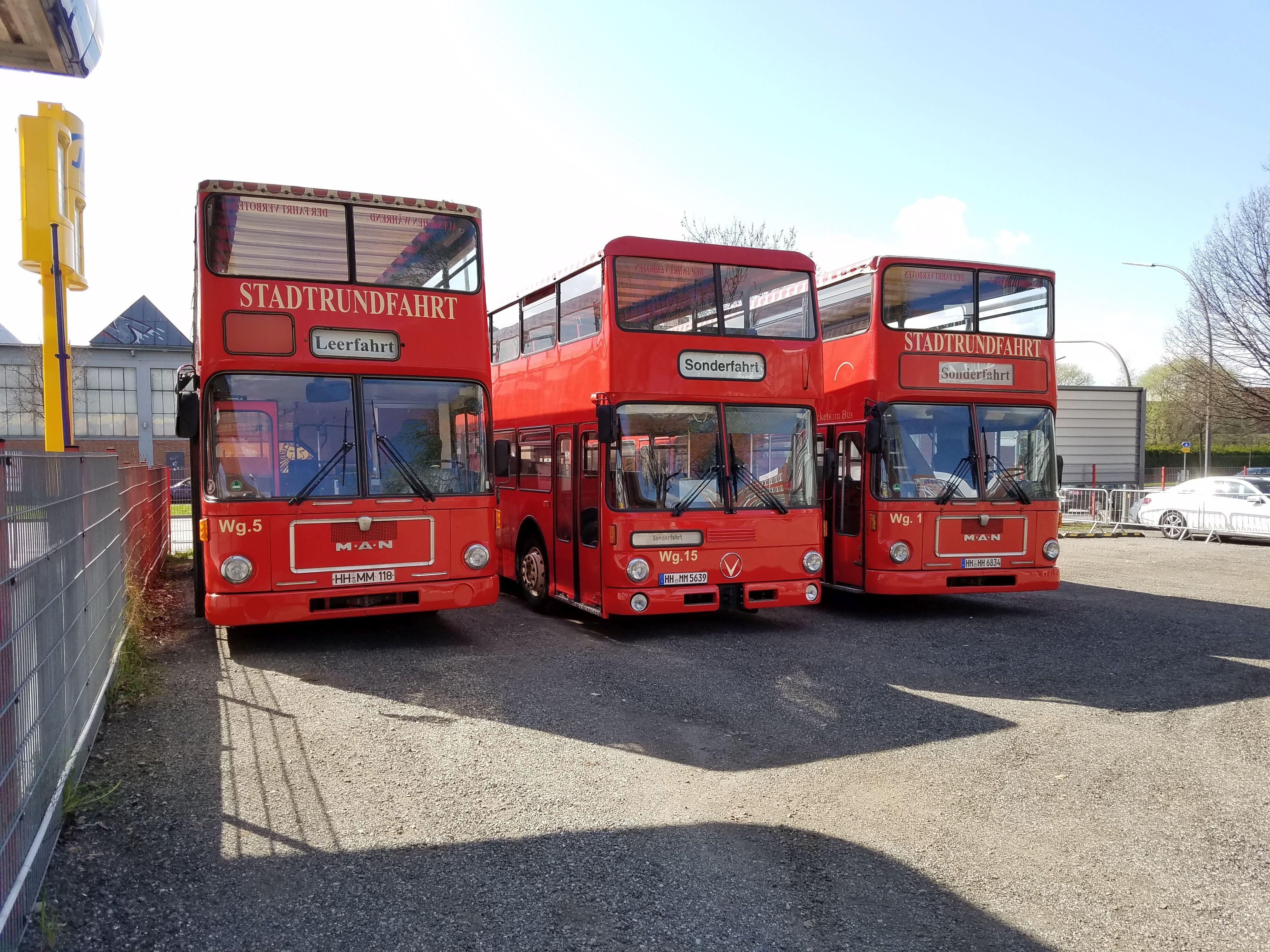 Foto: Bus 1893, Typ SD82, Stadtrundfahrtbus HH HH 6834, Hamburg, März 2017