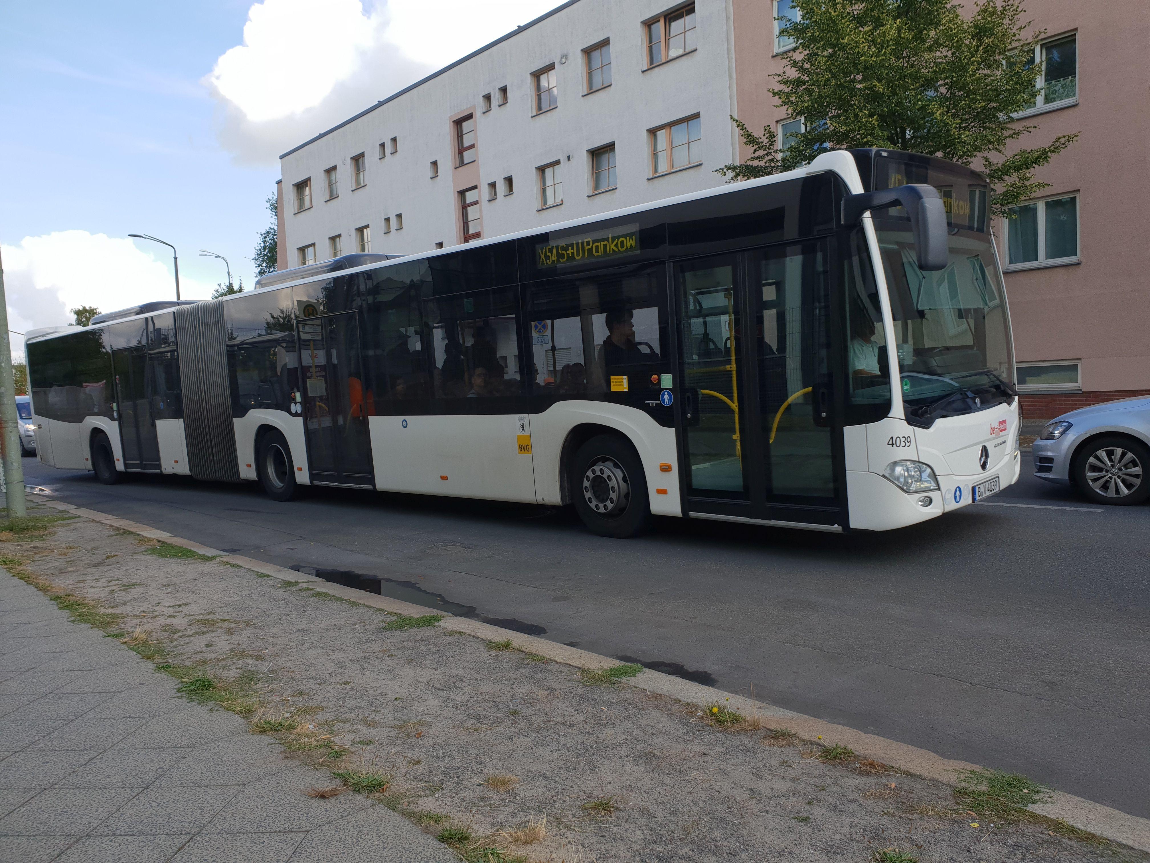 Bus 4039, Typ Citaro GN C2, Berlin-Pankow, August 2018