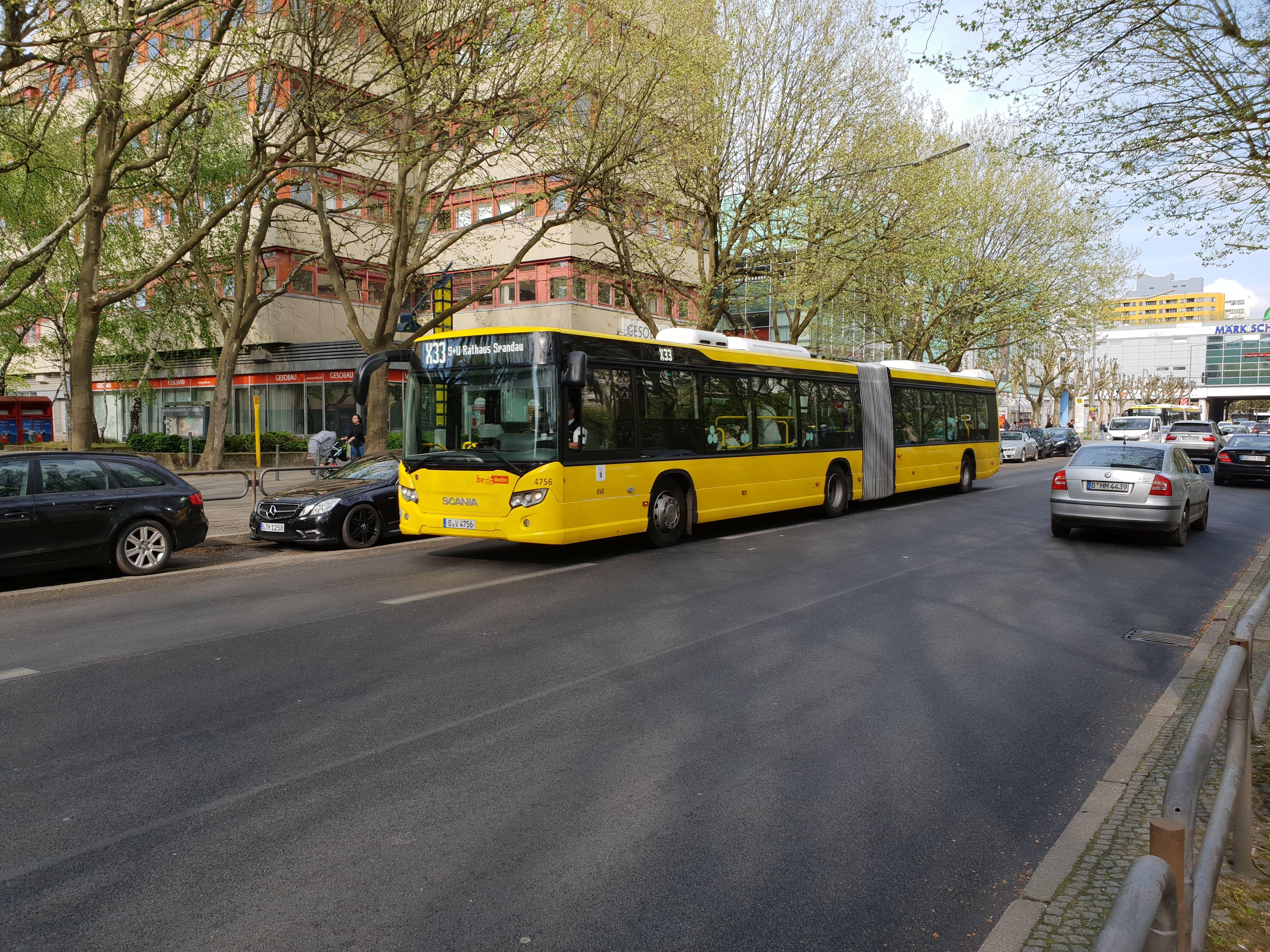 Bus 4756, Gelenkbus Typ Scania Citywide LFA, Märkisches Viertel, Juni 2018